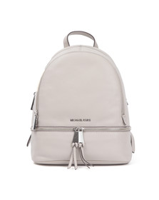 Michael Kors Womens Grey Rhea Zip Backpack