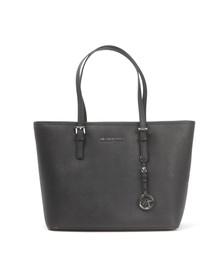 Michael Kors Womens Black Jet Set Travel Top Zip Tote Bag