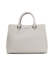 Michael Kors Womens Grey Savannah Large Satchel