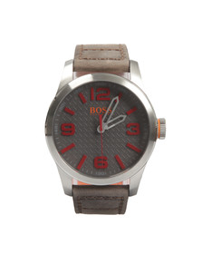 Boss Orange Mens Brown Paris Leather Strap Watch
