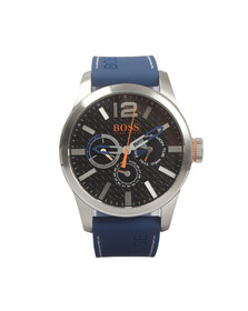 Boss Orange Mens Blue Paris Silicon Strap Watch