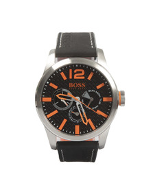 Boss Orange Mens Black Paris Leather Strap Watch
