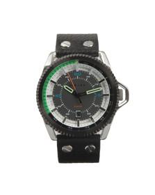 Diesel Mens Black DZ1717 Leather Strap Watch