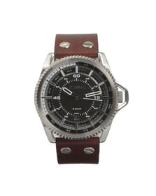 Diesel Mens Brown DZ1716 Leather Strap Watch