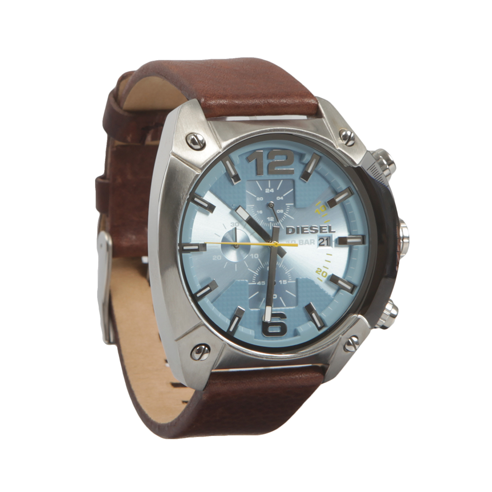 Overflow Leather Strap Chrono Watch main image