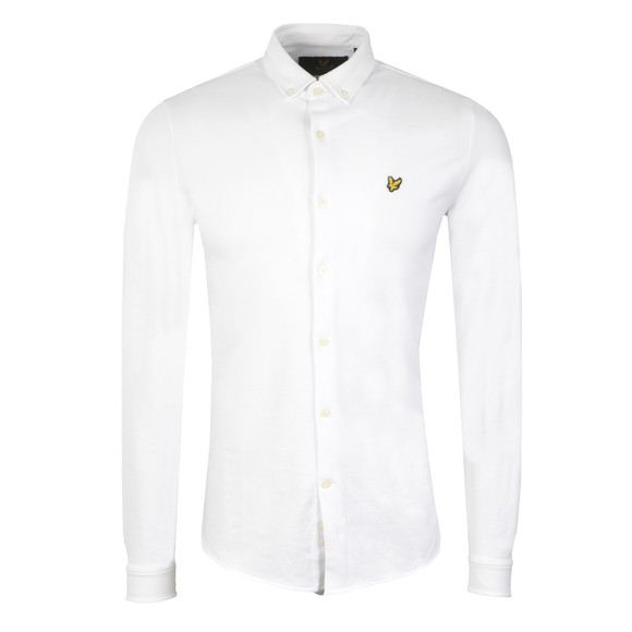 Lyle and Scott Mens White Jersey Pique Shirt main image
