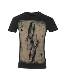 Religion Mens Black Card Crew Neck T Shirt