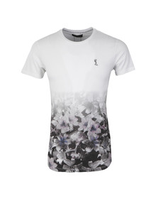 Religion Mens White Rose Skull Fade Out T Shirt