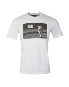 Paul Smith Mens White Regular Man Moon T Shirt