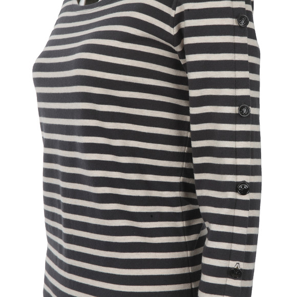 Maison Scotch Womens Black Long Sleeve Breton Top main image