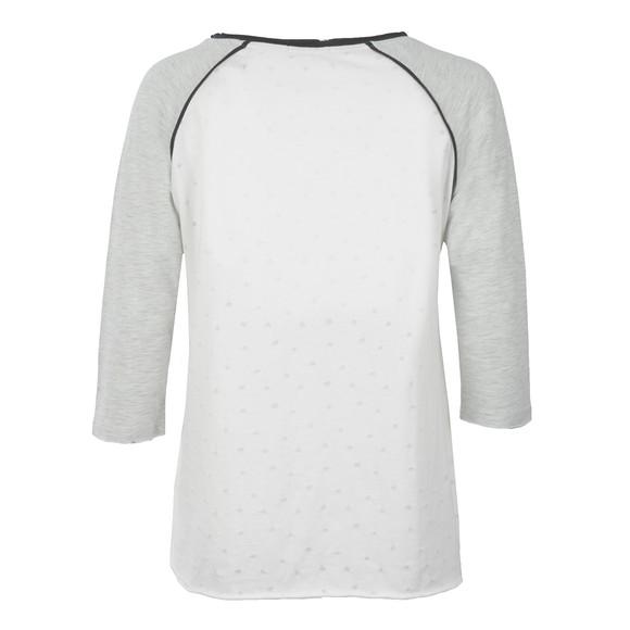 Maison Scotch Womens Off-white 3/4 Sleeve Wish Upon A Star Tee main image