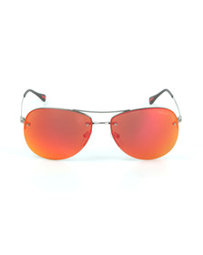 Prada Linea Rossa Mens Red 50RS Sunglasses