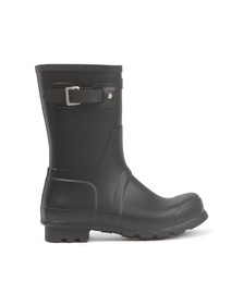 Hunter Mens Black Original Short Wellington Boot