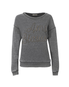 Maison Scotch Womens Black Burn Out Theme Sweat