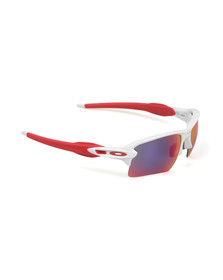 Oakley Mens White Flack 2.0 XL Sunglasses