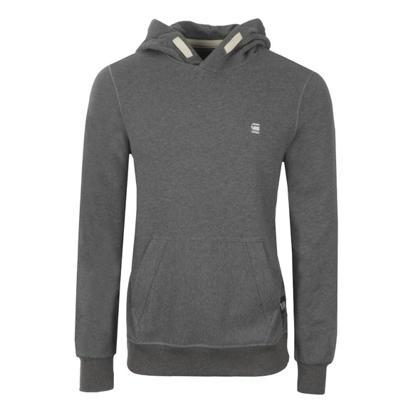 G-Star Mens Grey Varos Hooded Sweat main image