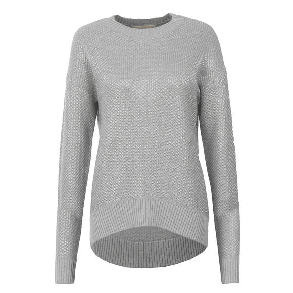 Michael Kors Womens Grey Metallic Chainmail Sweater main image