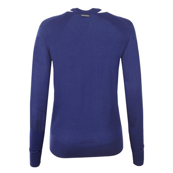 Michael Kors Womens Blue Slash V Neck Sweater main image