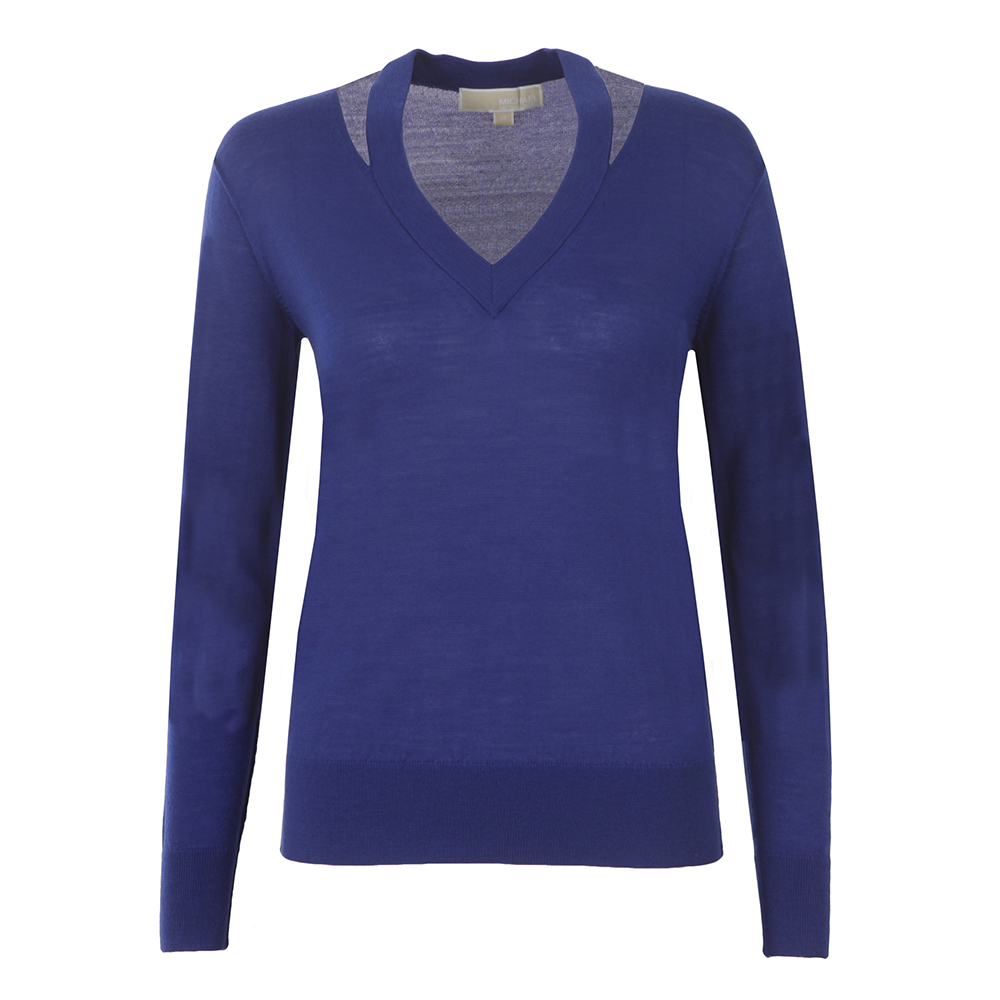 Slash V Neck Sweater main image