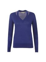 Slash V Neck Sweater