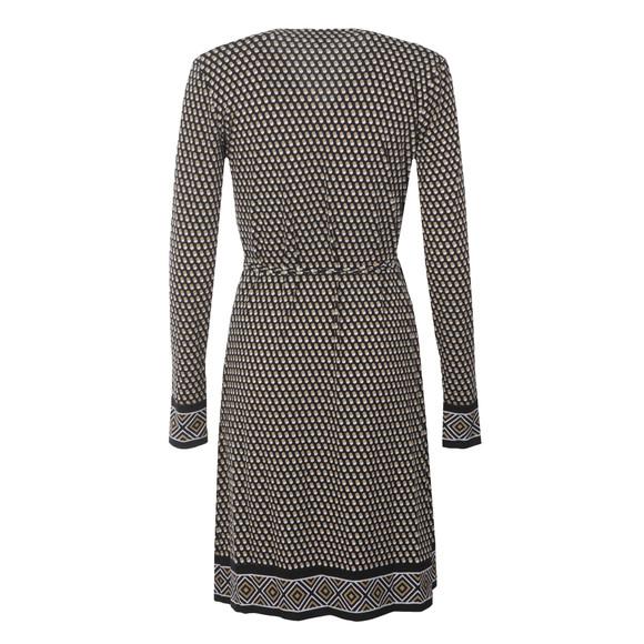 Michael Kors Womens Green Alston Border Wrap Dress main image