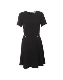 Michael Kors Womens Black Zipper Waist Dress