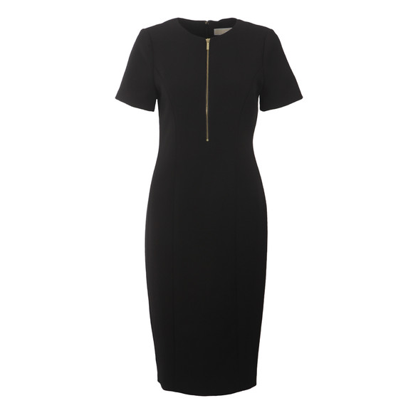 Michael Kors Womens Black Zip Dress main image