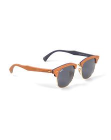 Ray Ban Mens Black ORB3016 Clubmaster Sunglasses