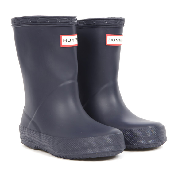Hunter Unisex Blue Kids First Wellington