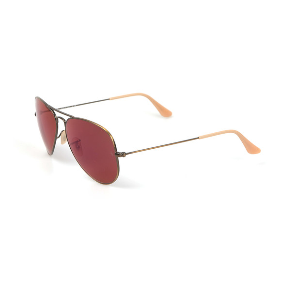 Ray-Ban Mens Red ORB3025 Aviator Sunglasses