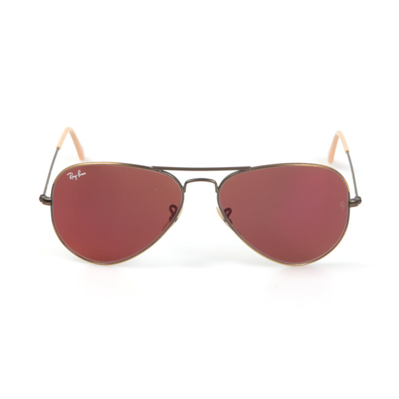 Ray-Ban Mens Red ORB3025 Aviator Sunglasses main image