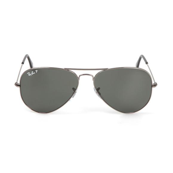 Ray-Ban Mens Black ORB3025 Aviator Sunglasses