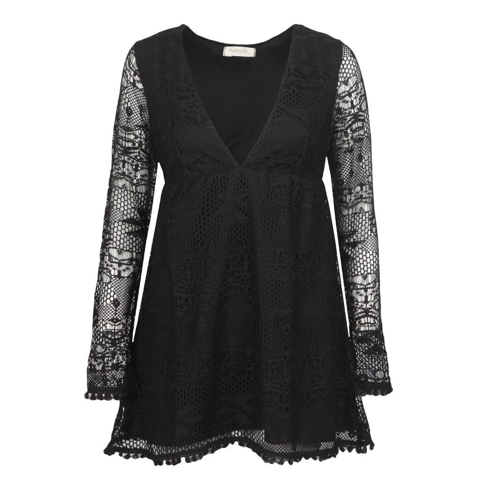 Long Sleeve Textured Dress main image
