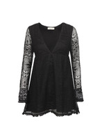 Long Sleeve Textured Dress