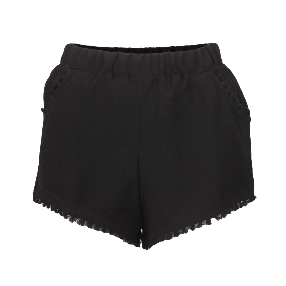 Cheesecloth Tassel Trim Shorts main image