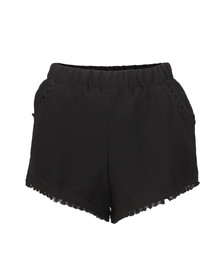 Babymilk Womens Black Cheesecloth Tassel Trim Shorts