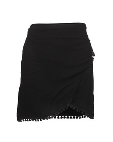 Babymilk Womens Black Wrap Skirt