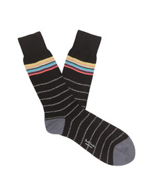 Paul Smith Mens Black Fine Lurex Sock