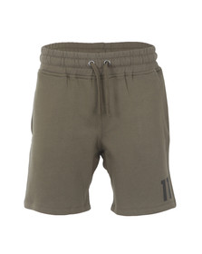 Eleven Degrees Mens Green Core Logo Sweatshort