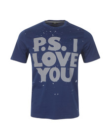 Paul Smith Mens Blue Love You T Shirt