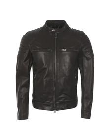 Belstaff Mens Black Stoneham Leather Blouson