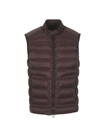 Belstaff Mens Red Harbury Down Gilet