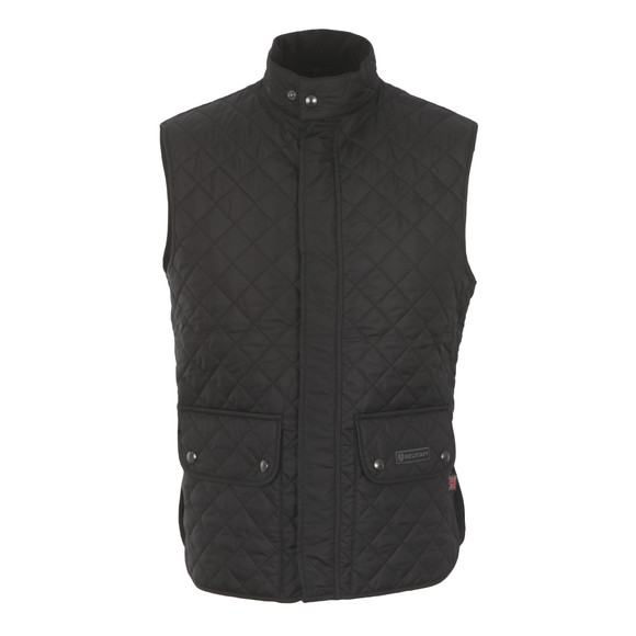 Belstaff Mens Black Quilted Waistcoat main image