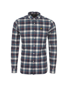 Lyle and Scott Mens Off-white L/S Flannel Check Shirt