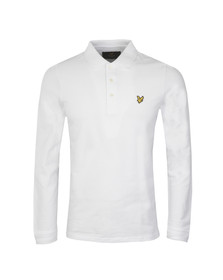 Lyle and Scott Mens White L/S Polo