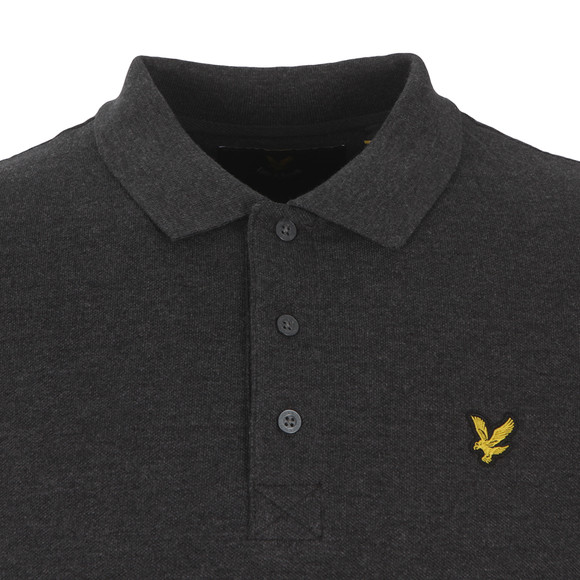 Lyle and Scott Mens Grey Plain Polo main image