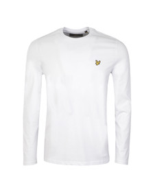 Lyle and Scott Mens White L/S Tee