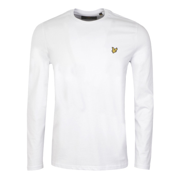 Lyle and Scott Mens White L/S Tee main image