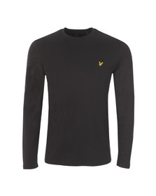 Lyle and Scott Mens Black L/S Tee