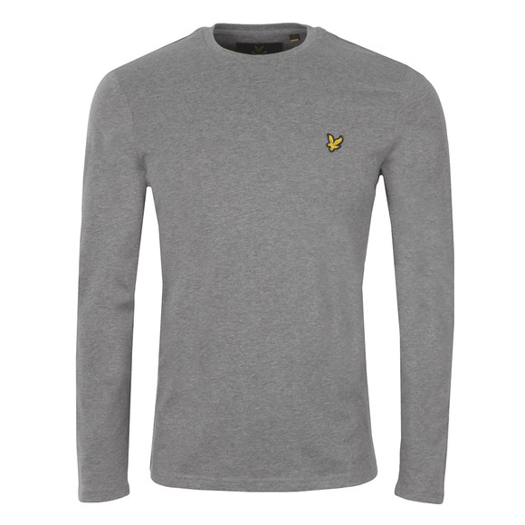 Lyle and Scott Mens Grey L/S T-Shirt main image